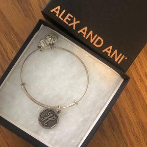 "Alex and Ani ""H"" initial bracelet"